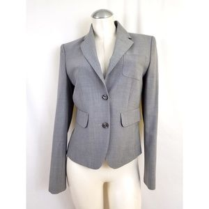 The Limited Size 2 Gray Blazer Wool Blend